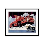 Snow Cruiser Framed Panel Print