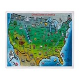 Funny Usa map Throw Blanket