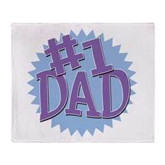 Number 1 Dad Throw Blanket