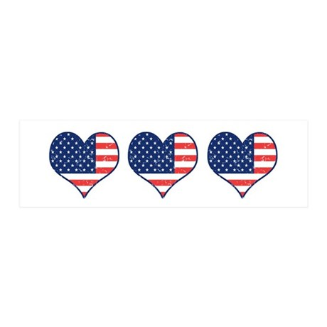 Little Patriotic Hearts 21x7 Wall Peel
