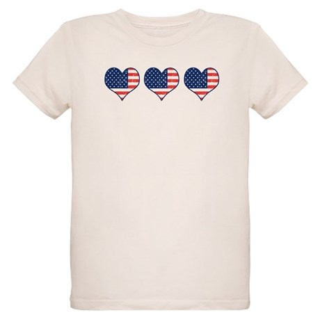 Little Patriotic Hearts Organic Kids T-Shirt