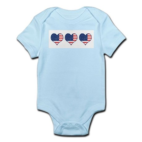 Little Patriotic Hearts Infant Bodysuit