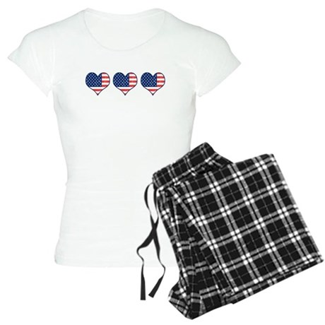 Little Patriotic Hearts Women's Light Pajamas