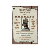 MinPin (BlackTan) Rectangle Magnet (10 pack)