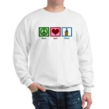 Peace Love Debate Sweatshirt