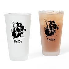 Pirate Ship Bride Pint Glass