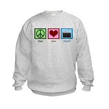 Peace Love Action! Sweatshirt