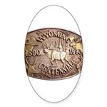 WY Centennial Sticker (Oval)