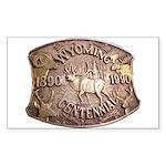 WY Centennial Sticker (Rectangle 50 pk)