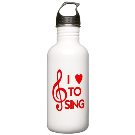 I LOVE TO SING Stainless Water Bottle 1.0L