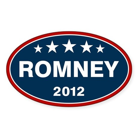 Romney 2012 [blue] Sticker (Oval 10 pk)