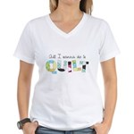 All I Wanna Do... QUILT! Women's V-Neck T-Shirt