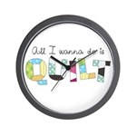 All I Wanna Do... QUILT! Wall Clock