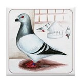 Giant Homer Pigeon Tile Coaster