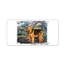 Welsh Terrier Lovers Aluminum License Plate
