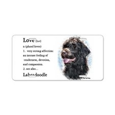Labradoodle Gifts Aluminum License Plate