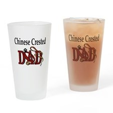 Chinese Crested Dad Pint Glass