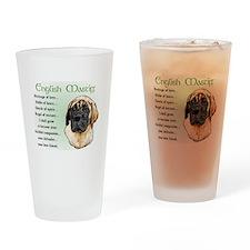 English Mastiff Drinking Glass