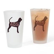 BFF Black and Tan Coonhound Pint Glass