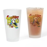 Border Collie Agility Pint Glass
