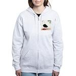 Saddle Homing Pigeon Women's Zip Hoodie