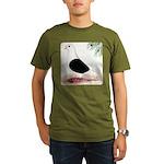 Saddle Homing Pigeon Organic Men's T-Shirt (dark)