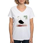 Saddle Homing Pigeon Women's V-Neck T-Shirt