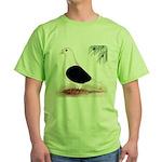 Saddle Homing Pigeon Green T-Shirt