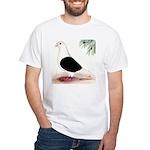 Saddle Homing Pigeon White T-Shirt