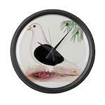 Saddle Homing Pigeon Large Wall Clock