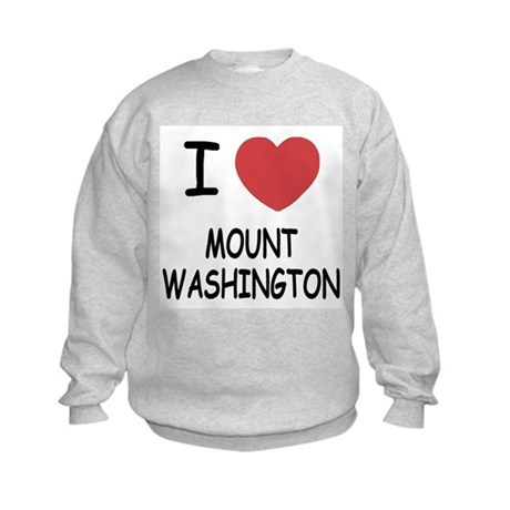 I heart mount washington Kids Sweatshirt