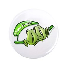 "I Love Frogs! 3.5"" Button (100 pack)"