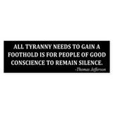 Thomas Jefferson Bumper Sticker (10 pk)