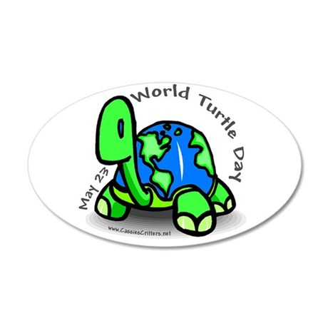 World Turtle Day 22x14 Oval Wall Peel