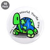 "World Turtle Day 3.5"" Button (10 pack)"