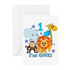 First Birthday Jungle Greeting Cards (Pk of 10)