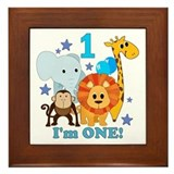 First Birthday Jungle Framed Tile