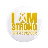 "I am Strong Appendix Cancer 3.5"" Button (100 pack)"