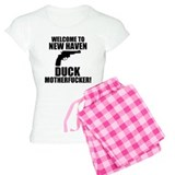 Welcome To New Haven Duck Mot Pajamas
