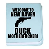 Welcome To New Haven Duck Mot baby blanket