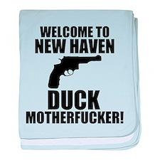 Welcome To New Haven Duck Mot baby blanket