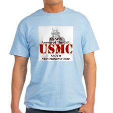 USMC Wife Ash Grey T-Shirt