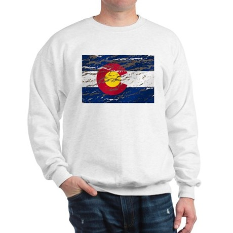 Colorado retro wash flag Sweatshirt