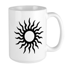 Tribal Sun Icon Large Mug