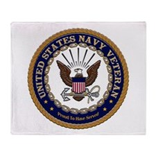 US Navy Veteran Proud to Have Throw Blanket