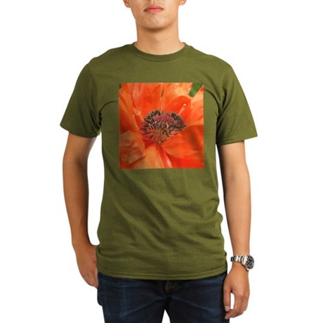 Orange Poppy Organic Men's T-Shirt (dark)