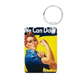 Rosie The Riveter Aluminum Photo Keychain