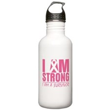 I am Strong Breast Cancer Water Bottle