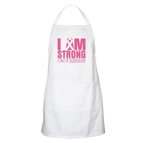 I am Strong Breast Cancer Apron