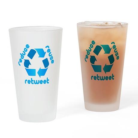Reduce Reuse Retweet Pint Glass